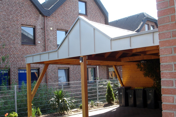 Carport kraemer dach und holz ihr dachdecker vom for Holzkonstruktion carport